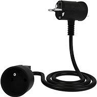 Tinen prodlužovací kabel s inovativní zástrčkou 1m černý - Prodlužovací kabel
