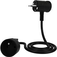 Tinen extension cable with innovative plug 10m black