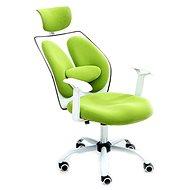 TEMPO KONDELA Benno UT-C568X zeleno/bílé - Kancelářské křeslo
