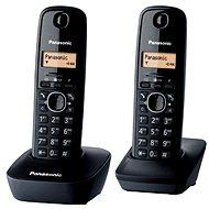 Panasonic KX-TG1612FXH DECT SMS Duo - Dva digitální bezdrátové domácí telefony