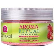 DERMACOL Aroma Ritual Body Scrub Rhubarb and Strawberry 200 g - Peeling