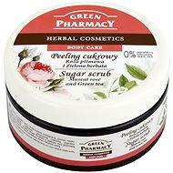 GREEN PHARMACY Cukrový peeling Muškátová růže a Zelený čaj 300 ml - Peeling