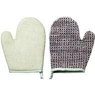 TITANIA Natural Body Care Bath and Massage Gloves with cuff - Massage Glove