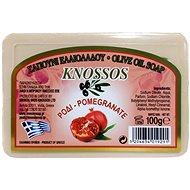 KNOSSOS Řecké olivové mýdlo s vůní granátového jablka 100 g - Tuhé mýdlo
