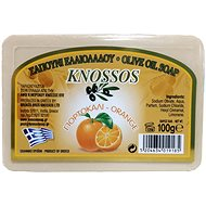 KNOSSOS Řecké olivové mýdlo s vůní pomeranče 100 g - Tuhé mýdlo