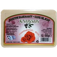 KNOSSOS Řecké olivové mýdlo s vůní růže 100 g - Tuhé mýdlo