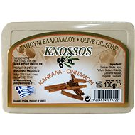 KNOSSOS Řecké olivové mýdlo s vůní skořice 100 g - Tuhé mýdlo