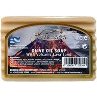 KNOSSOS Řecké olivové mýdlo s vulkanickým lávovým pískem 100 g - Tuhé mýdlo
