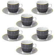 Tognana Set of 6 Coffee Cups 80ml with Saucers MADISON SIRACUSA