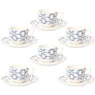 Tognana Sada šálků na kávu s podšálky 6 ks 90 ml METROPOLIS DOWN TOWN - Kávové šálky