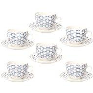 Tognana Sada šálků na čaj s podšálky 270 ml 6 ks METROPOLIS DOWN TOWN - Šálek s podšálkem