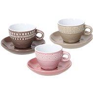 Tognana Sada šálků na kávu s podšálky 6 ks 100 ml LAPIS AGATA - Kávové šálky
