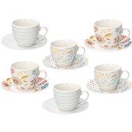 Tognana Iris Naif tea, 6 pcs with saucers