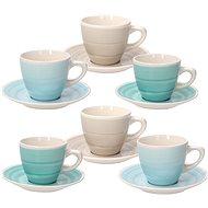 Tognana Sada šálků na kávu s podšálky 6 ks 100 ml LOUISE ALMEIDA - Kávové šálky