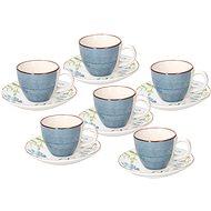 Tognana Metropolis Gaia Coffee Cups, 6 pcs with Saucers