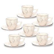 Tognana Sada šálků na čaj s podšálky 200 ml 6 ks LOUISE STAY - Šálek s podšálkem