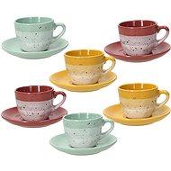 Tognana Sada 6 ks kávových šálků 90 ml s podšálky LAYERS GI-VE-MA - Kávové šálky