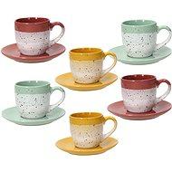 Tognana Set of 6 Tea Cups 200ml with Saucers LAYERS GI-VE-MA