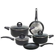 Tognana Sada nádobí 8 ks GRANCUCINA COPPER & CHARCOAL GRIGIO černá  - Sada nádobí
