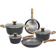 Tognana WOOD&STONE BLACK Set of Dishes 8 pieces - Pot Set