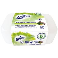 LINTEO  Vlhčený toaletní papír s dubovou kúrou v boxu  (60 ks) - Toaletní papír
