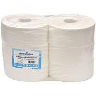 ALLSERVICES Jumbo dvouvrstvý toaletní papír 230 mm, 100% celulóza, návin 185 m, 6 rolí