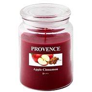 Provence Svíčka ve skle s víčkem 510g, Jablko+Skořice - Svíčka