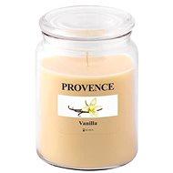 Provence Svíčka ve skle s víčkem 510g, Vanilka - Svíčka