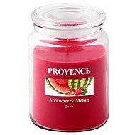 Provence Svíčka ve skle s víčkem 510g, Jahoda+Meloun - Svíčka