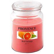 Provence Svíčka ve skle s víčkem 510g, Červený pomeranč - Svíčka