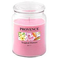 Provence Svíčka ve skle s víčkem 510g, Tropické květy