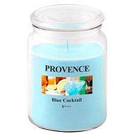 Provence Svíčka ve skle s víčkem 510g, Blue Cocktail - Svíčka