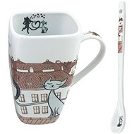 HOME ELEMENTS Porcelain mug Cats in the city 600ml - Mug
