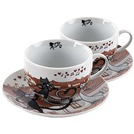 HOME ELEMENTS Porcelain Shapo Set Cats in the City 250ml - Set of cups