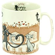 HOME ELEMENTS Porcelain Mug 750ml, Cats in the city - Mug