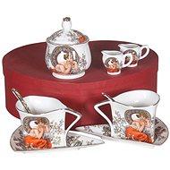 HOME ELEMENTS Porcelánová sada na čaj a kávu - Mucha - Sada