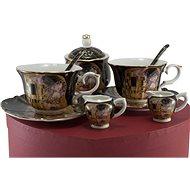 HOME ELEMENTS Porcelánový set - šapo sady, mléčenky a cukřenka - Klimt - Porcelánový set