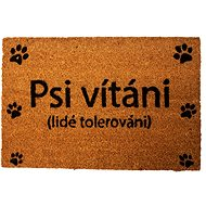 HOME ELEMENTS Mat with Original Text, Dogs Welcome, 40x60cm - Doormat