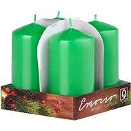 Green Pillar Candles, 4pcs. 50 x 90 - Christmas Candle