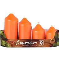Stupně 4ks prům.50mm Lak oranžové svíčky - Vánoční svíčka