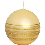 Glittery Ivory Ball Candle, 70mm - Christmas Candle