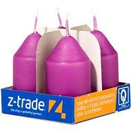 Purple Pillar Candles, 4pcs, 35 x 65mm - Christmas Candle