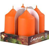 Válec 4ks 40x75 oranžová svíčky - Vánoční svíčka