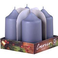 Grey Pillar Candles, 4pcs, 40 x 75mm - Christmas Candle