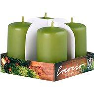 Válec 4ks 38x60 tm. olivové svíčky - Vánoční svíčka