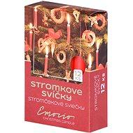 Stromkové 12ks 12x100 červené svíčky - Vánoční svíčka