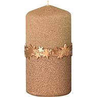 Gold Pillar Candle with Decorative Ribbon, 60 x 120mm - Christmas Candle