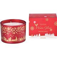 Svíčka ve skle 110x80 mm 3 knoty vonná, v dárkové krabičce Winter Spice - Vánoční svíčka
