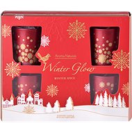Scented Candles in Glasses in Winter Glow Gift Tin, 50 x 62mm, 6pcs