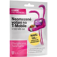 Předplacená karta s neomezeným voláním na T-Mobile a 100MB dat - SIM karta